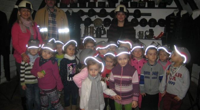 Przedszkolaki u górników
