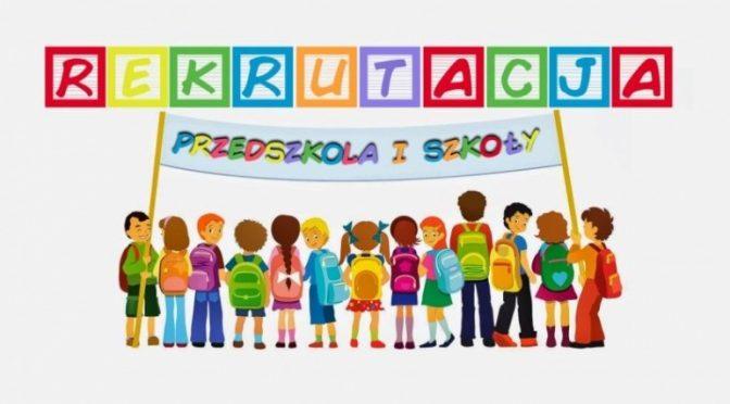 Rekrutacja do klasy pierwszej oraz do przedszkola r.szk. 2019/2020